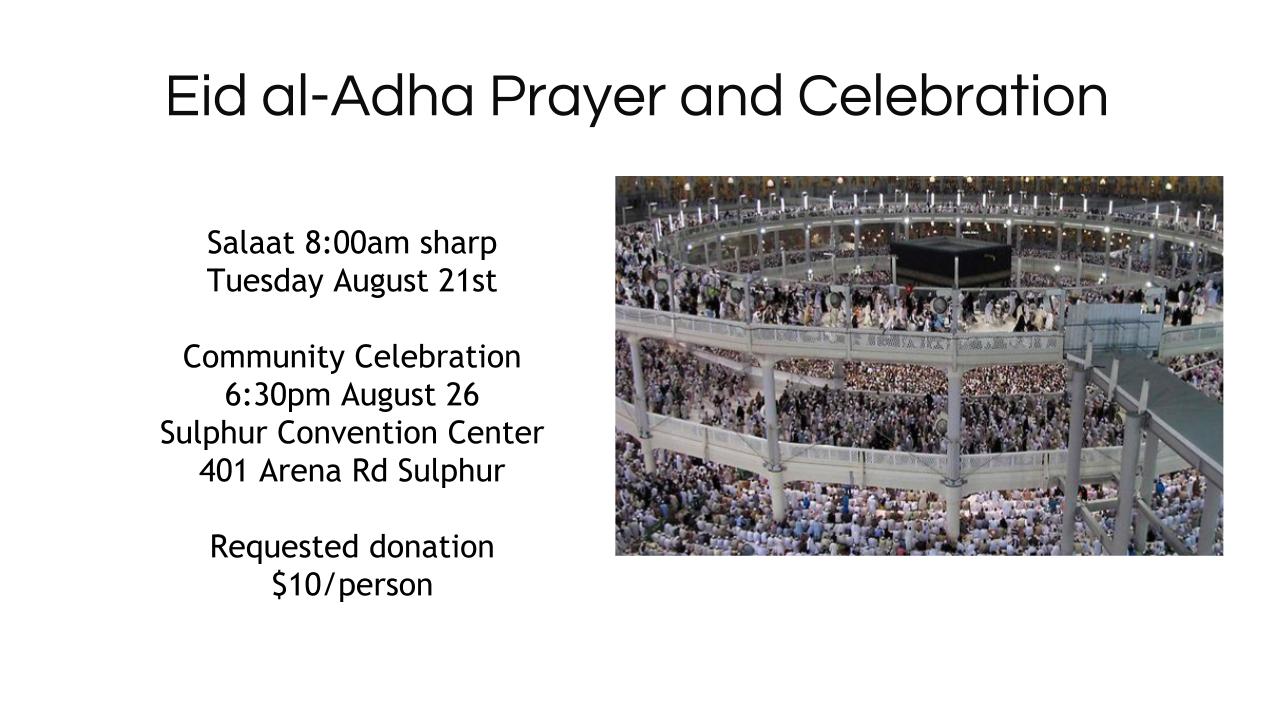 Eid Al-Adha 2018